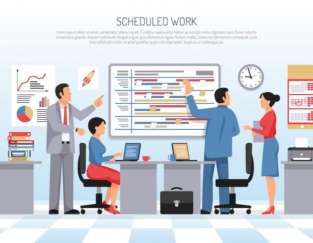 Planification d'une illustration plate