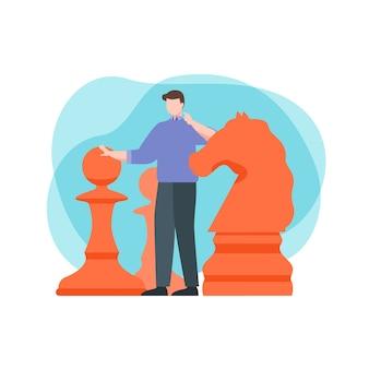 Planification stratégique de l'homme d'affaires