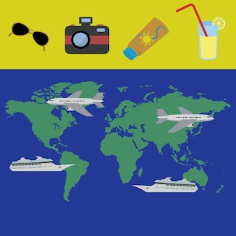 Planification de vacances pour un concept de voyage