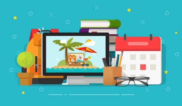 Planification de voyage ou de voyage en ligne