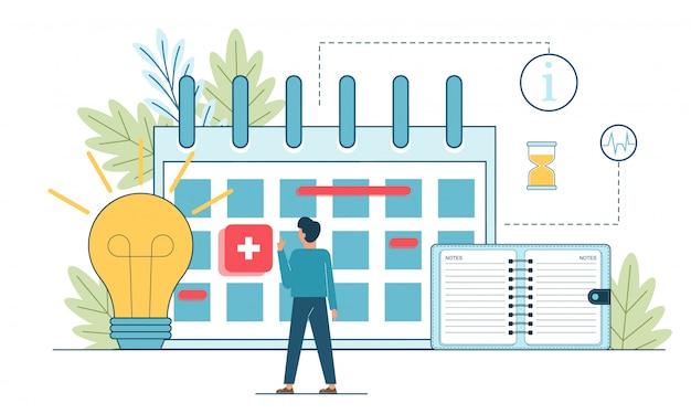 Planifier des événements. planification, événement, actualités, rappel en ligne des gens d'affaires.