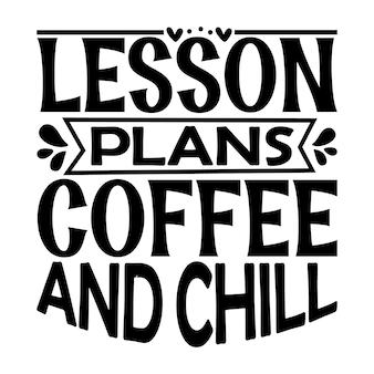 Plans de cours café et lettrage de style unique fichier de conception vecteur premium