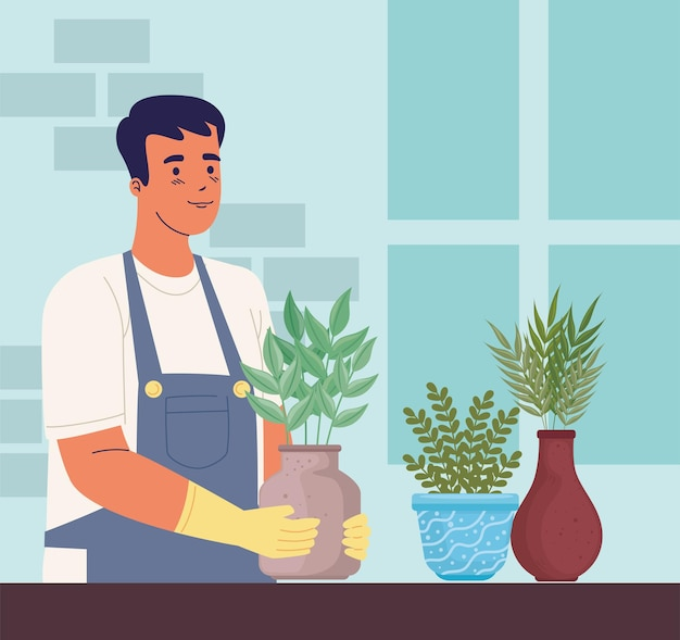 Plantation de jardinier homme