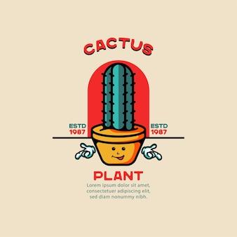 Plante cactus illustration tatouage vintage pour t-shirts
