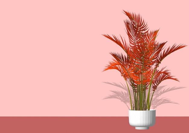 Une plante d'intérieur appelée dans un pot en céramique comme décoration de la maison.