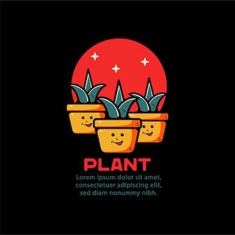 Plante et oiseau avec illustration de ballon dessinés à la main, pour tshirt