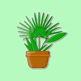 Plante en pot d'intérieur illustration vectorielle