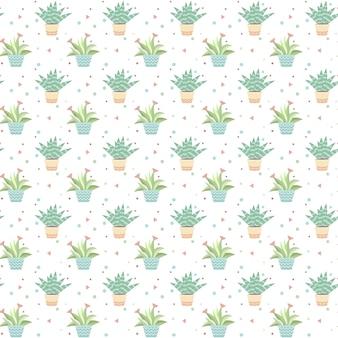 Plante sans soudure fond illustration