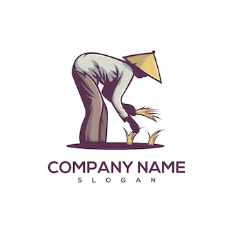 Planter le logo du riz
