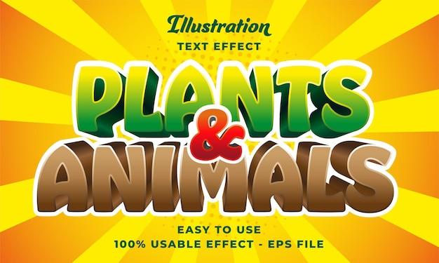 Plantes et animaux effet tet