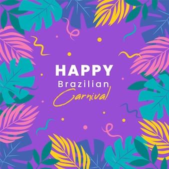 Plantes de carnaval brésilien plat