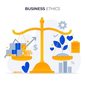 Plantes d'éthique des affaires ou argent