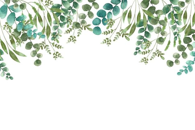 Plantes exotiques sur fond d'espace copie blanche