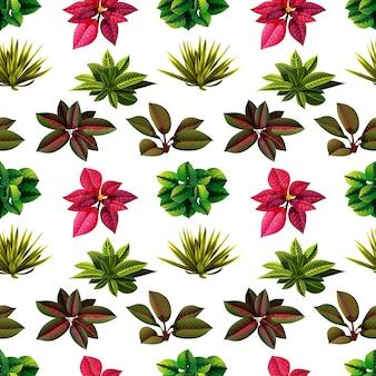 Plantes nature sans soudure avec de belles fleurs