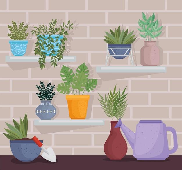Plantes et outils de jardin