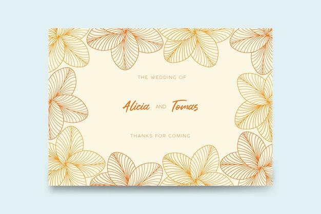 Plantilla tarjeta de bodas