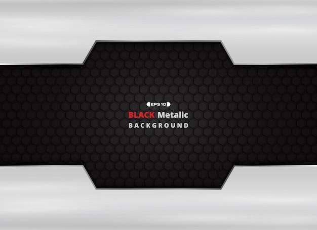 Plaque en aluminium sur fond métallique noir avec des paillettes dorées.