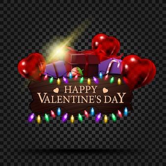 Plaque en bois avec félicitations pour la saint valentin