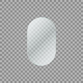 Plaque de verre sur fond transparent