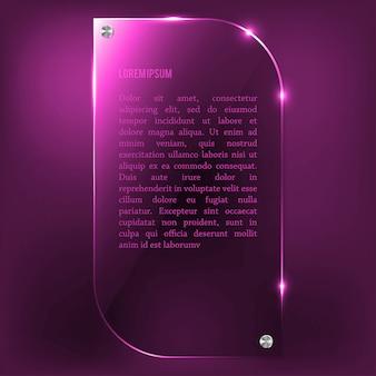 Plaque de verre rose