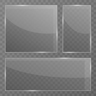Plaque de verre sur transparent