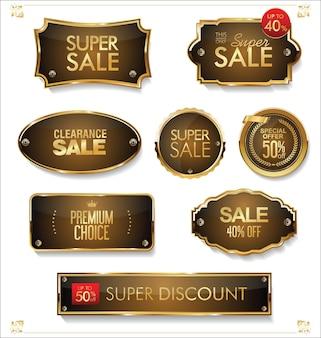 Plaques métalliques de qualité supérieure et super vente d'or