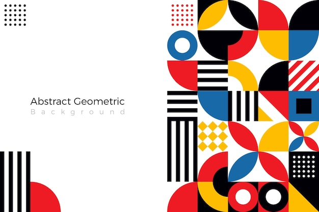 Plat abstrait avec des formes geomitrc
