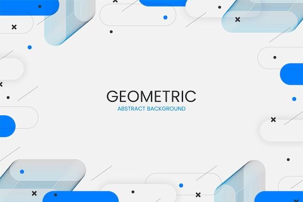 Plat Abstrait Géométrique Avec Des Formes Abstraites Vecteur gratuit