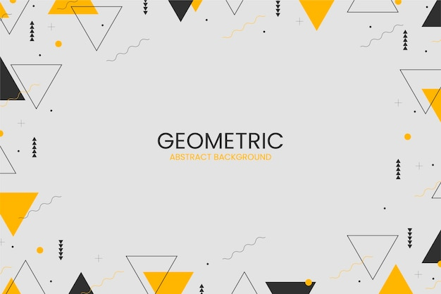 Plat abstrait géométrique avec des formes abstraites