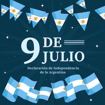 Plat bio 9 de julio - declaracion de independencia de la argentina illustration