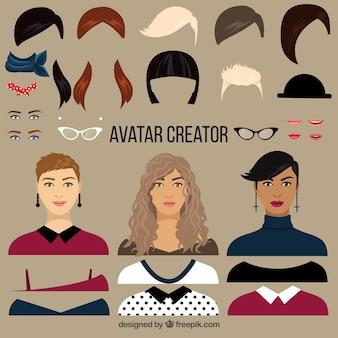 Plat femme avatar creator