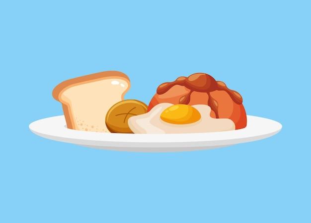 Plat de petit déjeuner