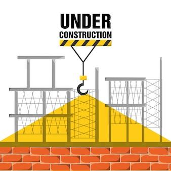 Plat sous construction concept vector illustration design