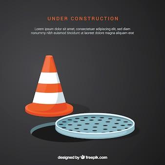 Plat sous le modèle de construction