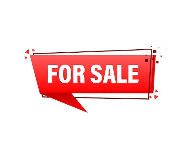 Plat à vendre signe pour la conception de bannières