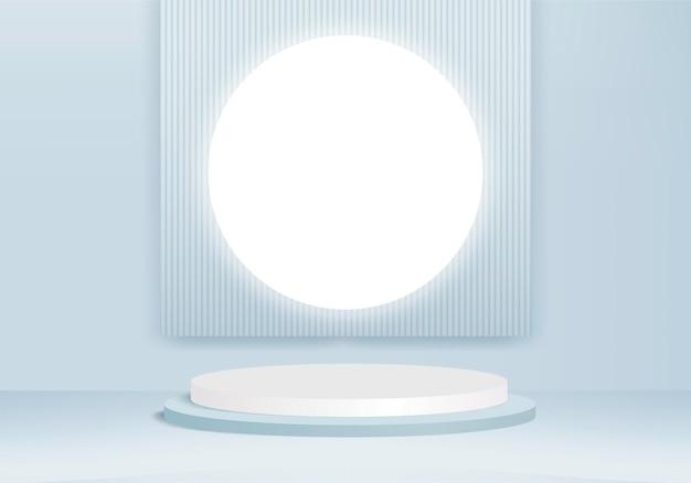 Plate-forme de fond moderne avec verre bleu moderne