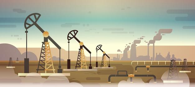 Plate-forme de pompe à huile énergie zone industrielle forage pétrolier production de combustibles fossiles