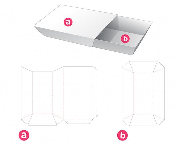 Plateau en carton et modèle de découpe découpé