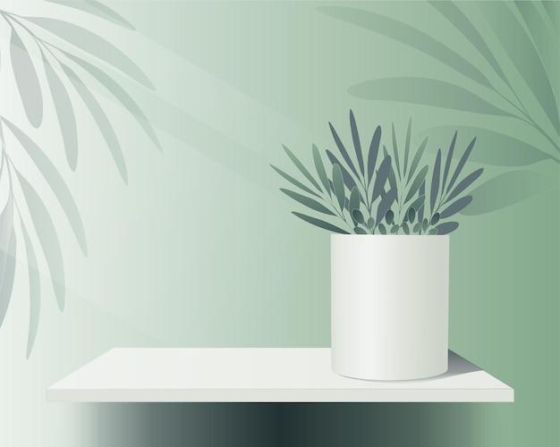 Plateau de plate-forme de podium de vecteur sur fond vert