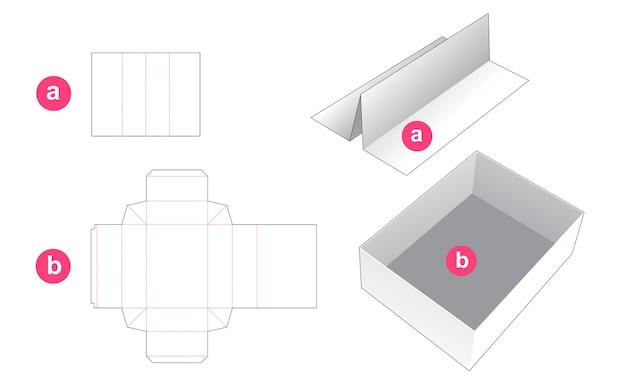 Plateau rectangulaire avec gabarit de découpe de cloison d'insertion