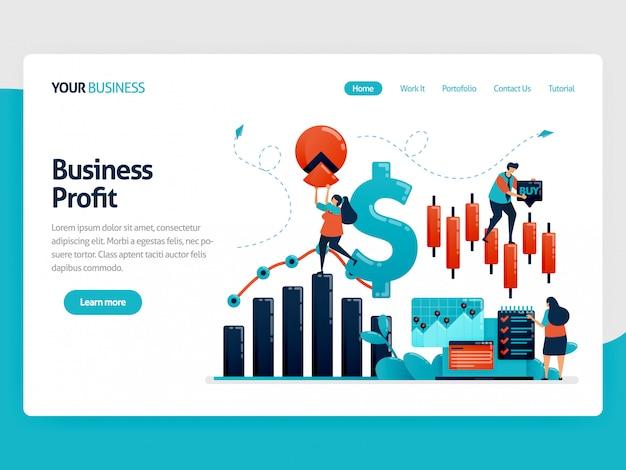 Plateforme financière pour aider à choisir la page de destination de l'investissement