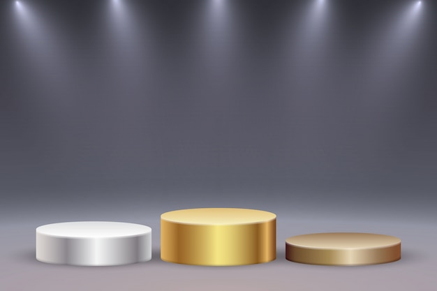 Plateforme ou podium réaliste