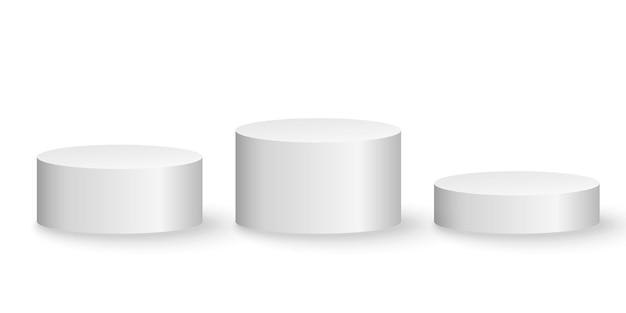 Plates-formes 3d Isolées. Piédestal Vide. Vecteur Premium