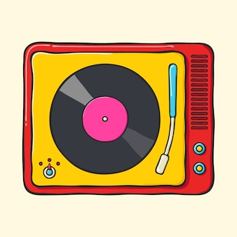 Platine vinyle portable rétro