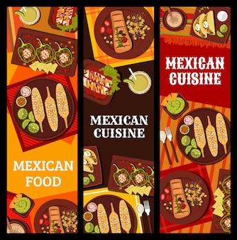 Plats et boissons de restaurant de cuisine mexicaine
