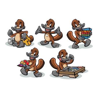 Platypus boardgame mascotte design