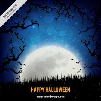 Pleine lune pour un halloween heureux