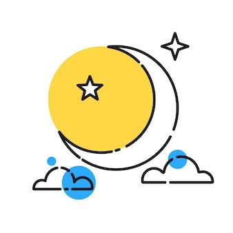 Pleine lune réaliste. prêt pour votre conception, carte de voeux, bannière. vecteur