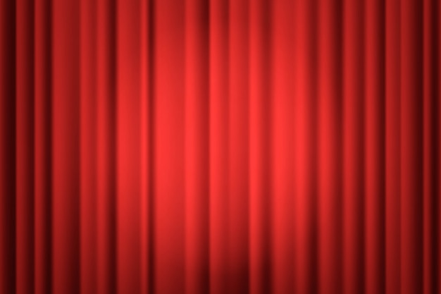 Pleins feux sur le rideau de scène.