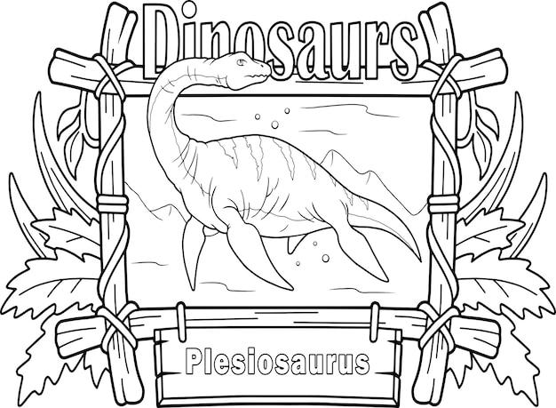 Plésiosaure de dinosaure